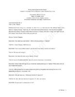 Interview transcript, William Tarlton